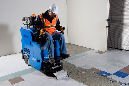 vinyl floor scraper machine